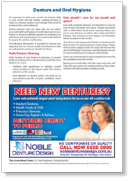 Denture and Oral Hygiene